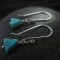 Turquoise earrings by Travlos